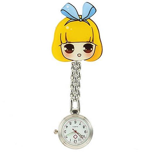 SENCEE Moda Precioso Lindo Reloj de Enfermera de Cuarzo Enfermera Doctor Paramédico Túnica Broche Fob Reloj