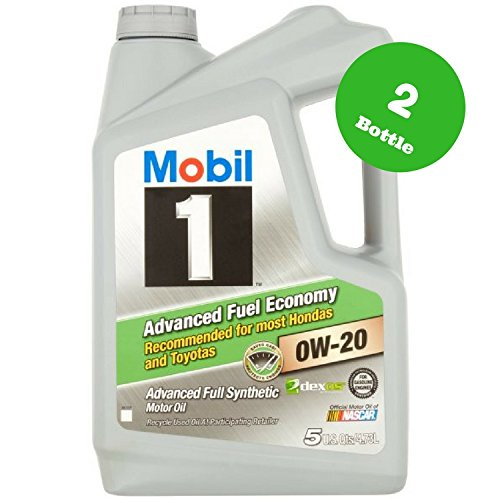 Mobil 1 0W-20 Advanced Fuel Economy Full Synthetic Motor Oil, 5 qt. 2 (0w 20 Synthetic Oil)