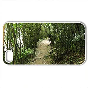 Bamboo Path - Case Cover for iPhone 4 and 4s (Mountains Series, Watercolor style, White)