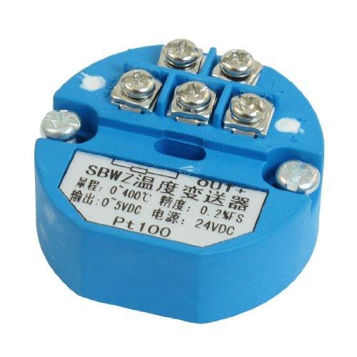 eDealMax PT100 Transmisor de temperatura del Sensor 0-400C Salida 0-5V DC by eDealMax