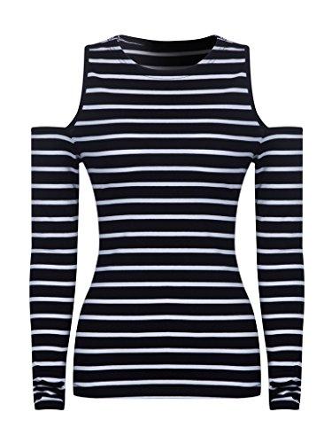 Persun Contrast Stripes Shoulder T shirt