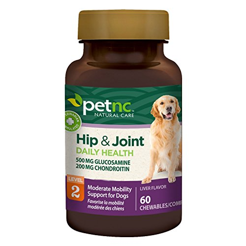 PetNC Natural Care Hip and Joint Health Moderate Chewables for Dogs, 60 Count