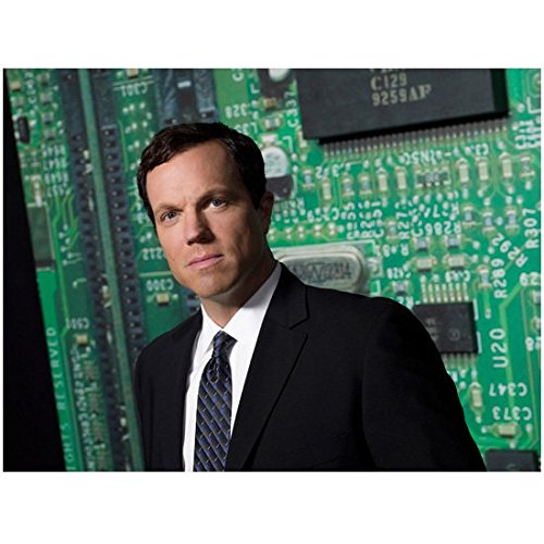 Chuck (TV Series 2007 - 2012) 8 Inch x 10 Inch Photo Adam Baldwin Black Suit From Chest Up kn -