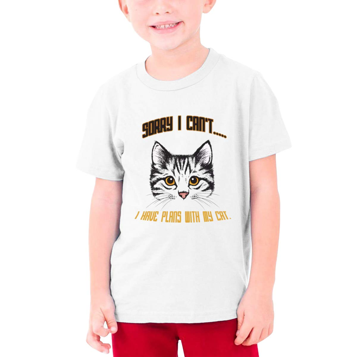 Sorry I Have Plans with My Cat Boys Short-Sleeve Tee I Cant