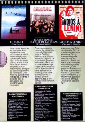 Coleccion Cine Mundial Galardonado vol. 4 (The Piano / Rosenstrasse / Goodbye Lenin) [NTSC/Region 1&4 dvd. Import - Latin America] 3 dvd boxset (Spanish subtitles)
