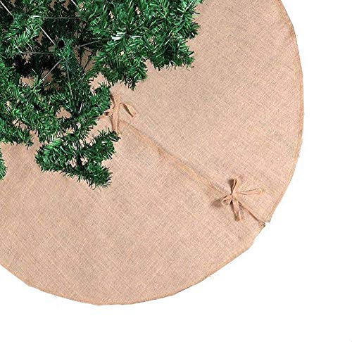 "Burlap Christmas Tree Skirt, Tree Skirt, Christmas, Christmas Decorations, Christmas Decor, Tree Skirts, 60inch Tree Skirt, 48inch Tree Skirt, Xmas Decor, Holiday Decor, Home Decor (60"" Round)"
