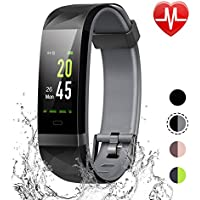 LETSCOM Fitness Tracker Color Screen, IP68 Waterproof...