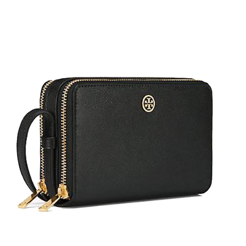 1ed0ab586f4 Amazon.com  Tory Burch 40086-001 Double Zip Parker Mini Crossbody Ladies  bag  Clothing