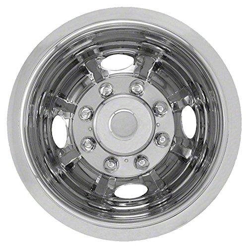 Single Rear 16'' Polished Stainless Steel Wheel Simulators (Push-on)