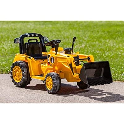 Realistic,Sturdy,Fun and Exciting Kid Trax 6V Caterpillar Tractor Battery Powered Ride-On,Yellow,Great Birthday Idea for Kids: Toys & Games