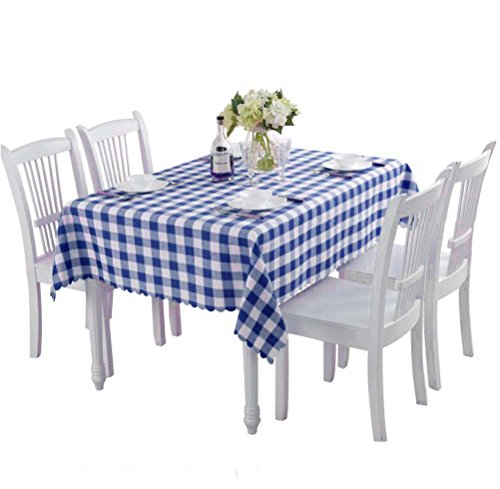 Topmodehome Classic Solid Color Tablecloth Rectangularfor End Table/Dining Table/Desks (55''x55'', navy) ()