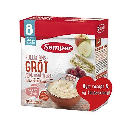 Semper Fruktgrot - Fruit Porridge with Pear and Banana from 8 months 480g - Pack of 6