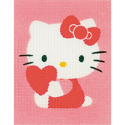 "Hello Kitty With Heart Plastic Canvas Kit-5""X6.5"""