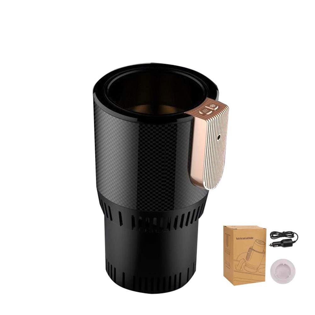 FABSELLER 12V Smart Car Heating Cup Cooler Warmer Cup Holder Electric Smart Cup Holder (Black)