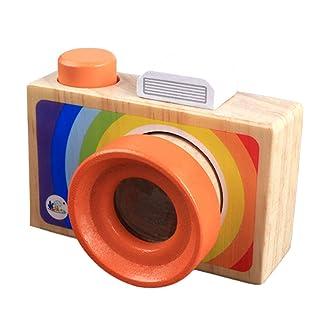 TOYMYTOY Kids Portable Cartoon SLR Camera caleidoscopio Multi-Prisma Giocattolo stupefacente Giocattolo Magico di osservazione di osservazione