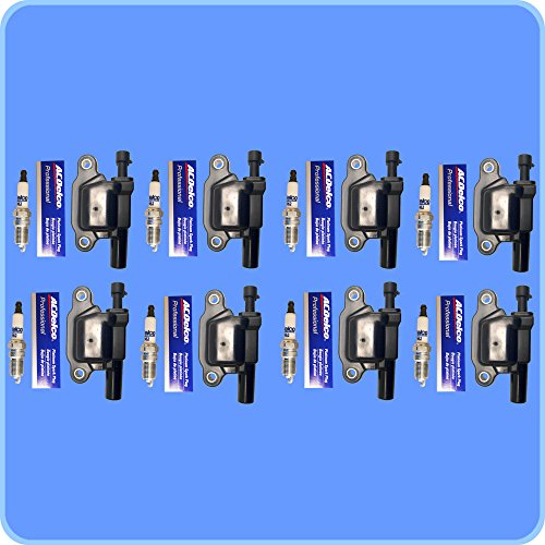 (8) New AD Auto Parts High Performance Ignition Coil + (8) ACDelco Spark Plugs For D513A 41-962