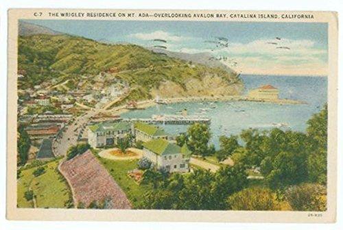 Postcard Wrigley Residence Mt Ada Avalon Bay Catalina Island CA Ships from USA