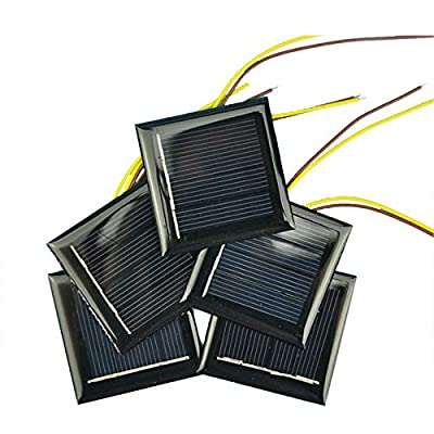 AOSHIKE 10Pcs 2V 130MA Micro Solar Panels Photovoltaic Solar Cells with 15CM Wires Power Charger Solars Epoxy Plate DIY Projects Toys 54x54mm (2V 130MA 54x54MM) : Garden & Outdoor