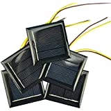 AOSHIKE 10Pcs 2V 130MA Micro Solar Panels Photovoltaic Solar Cells with 15CM Wires Solars Epoxy Plate DIY Projects Toys…