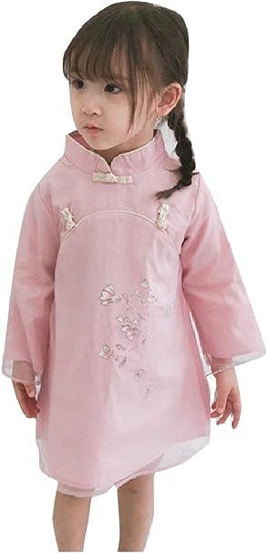 Andopa Los niños de algodón orgánico Qipao larga túnica-manga ...