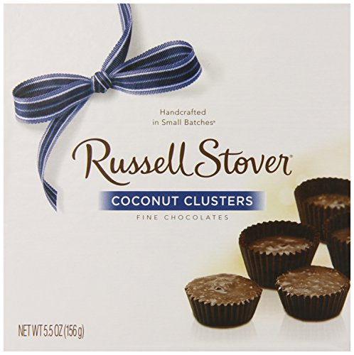 Russell Stover Chocolate Coconut Clusters, 5.5-Ounce Boxes (Pack of 5)