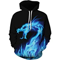 HoneyStore Unisex Casual Realistic 3D Printed Hoodie Pullover with Pockets