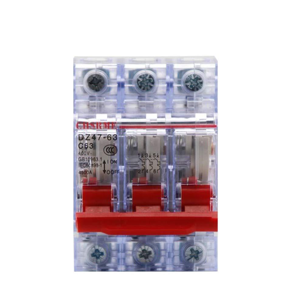 OIASD DZ47-63 Transparent Protecteur d'interrupteur d'air Domestique d'interrupteur d'air 3P, 40A
