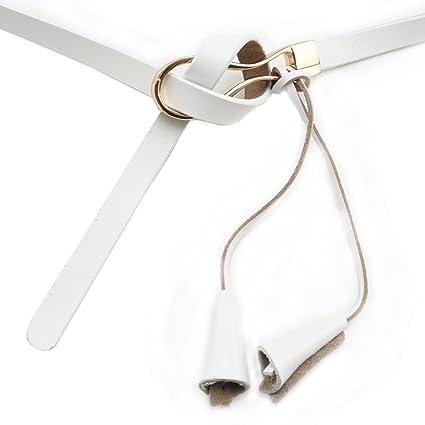 iShine Ceinture Féminin Fille de PU Cuir Artificiel Long Fine Boucle  Alliage Faire Noeud avec Pendentif Frange Style Moderne Simple Mode Facile  à Assortir ... 7c6975ed313