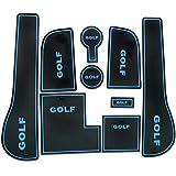 LFOTPP Golf 7 Facelift R GTD GTI GTE Slot Pad Alfombra de goma Car Styling Interior Alfombrillas Antideslizantes Estera Del Coche Azul