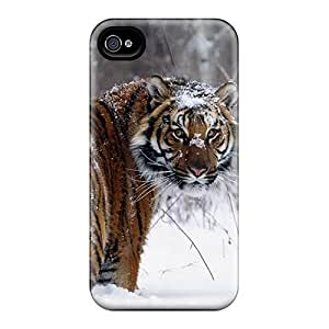 For winvin Iphone Protective Case, High Quality For Iphone 6 plus Snowy Tiger Skin Case Cover