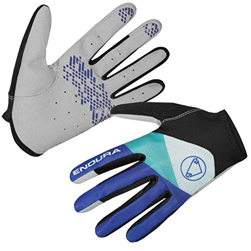 Endura Womens Hummvee Lite Full Finger Cycling Glove - Pro Mountain Bike MTB Gloves Coral, Medium