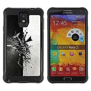 Suave TPU GEL Carcasa Funda Silicona Blando Estuche Caso de protección (para) Samsung Note 3 / CECELL Phone case / / Abstract Black & White /