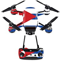 Skin for DJI Spark Mini Drone Combo - Cuban Flag| MightySkins Protective, Durable, and Unique Vinyl Decal wrap cover | Easy To Apply, Remove, and Change Styles | Made in the USA