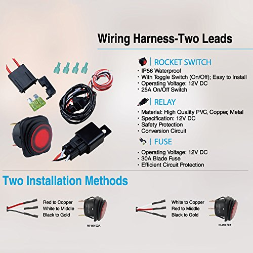 517yDQjyEiL price tracking for nilight off road atv jeep led light bar wiring