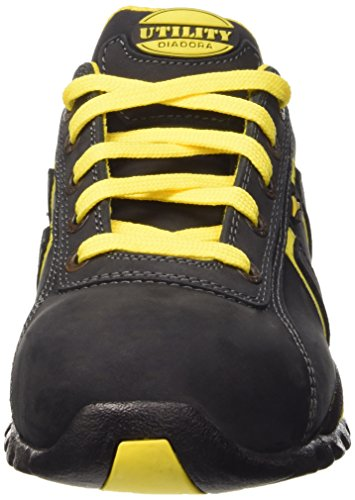 Diadora Active Glove Original Low Mens Womens Safety Shoes Black Black and Yellow Q2qh8Zdqe