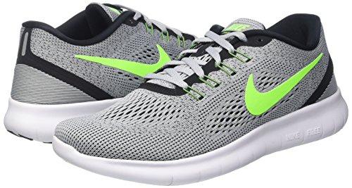 Nike Mens Free Rn Pure Platinum/Elctrc Grn/Anthracite Running Shoe 8 Men US by Nike (Image #5)