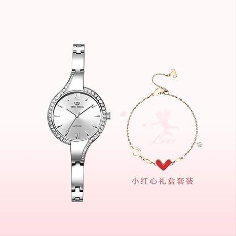 Elegante esfera pequeña Mujer reloj de cuarzo Impermeable