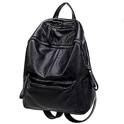 UTO Women Backpack Purse PU Washed Leather Ladies Waterproof Rucksack Shoulder Bag