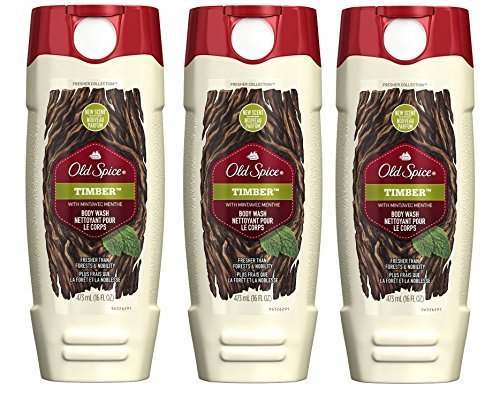 Old Spice Body Wash - Fresher Collection - Timber - Net Wt. 16 FL OZ (473 mL) Each - Pack of 3