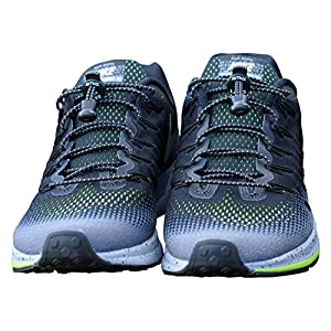 AKTIVX SPORTS LACES - No Tie Elastic Shoelaces that Lock, Replacement Running Shoelaces for Men, Women,Adults, Seniors & Kids Sneakers, Cleats, Boots - Easy to Install (Black) 3-Pack