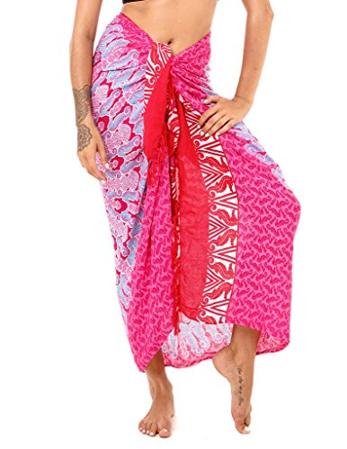 SHU-SHI Womens Beach Swimsuit Cover up Sarong Wrap Seahorse Mandala & Coconut Tie ()