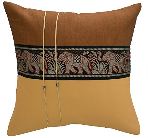 avarada striped elephant throw pillow cover decorative sofa couch cushion cover zippered 18x18. Black Bedroom Furniture Sets. Home Design Ideas