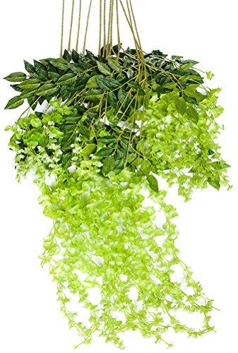 Mavee-36-Feet-Artificial-Silk-Wisteria-Vine-Ratta-Silk-Hanging-Flower-Wedding-Decor12-Pieces
