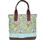 Amy Butler Cara Tote,Temple Tulips Turquoise,one size, Bags Central