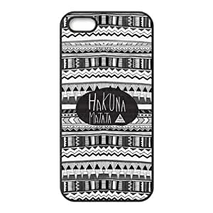 Protective PC Rubber Coated Phone Case for iPhone 5S / iPhone 5 - Hakuna Matata