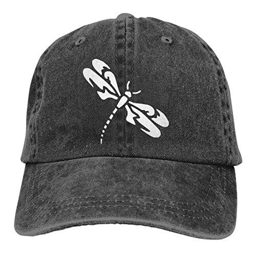 - Unisex Adjustable Baseball Cap Tribal Dragonfly Sun Hats Black