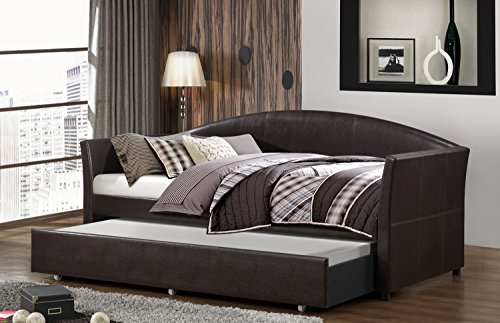 Home Source 50902034 Madison Collection Asian Hardwood Daybed, 38.1 by 41.7 by 86.6-Inch, Chocolate