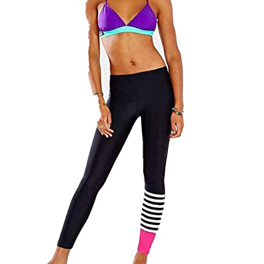 0c4c9476192066 Womens Sport Yoga Pants High Waist - Running Pants Dance Cropped Leggings  Stretch Trousers - Power Stretch Workout Tights Gym Yoga Running Fitness  Leggings ...
