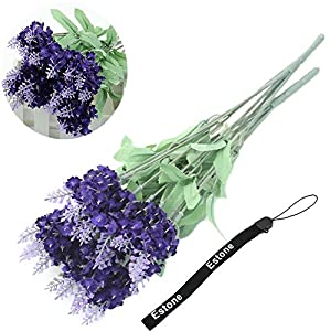 Estone® 2pcs Retro 10 Head Fake Bouquet Wedding Artificial Flower LAVENDER Home Wedding Decor 96
