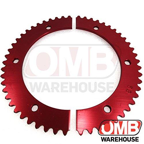 Billet Hub Sprocket - OMB Warehouse Pit Parts Split Sprocket - 53 Tooth - 35 Chain